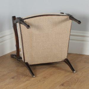 Antique French Louis XVI Style Walnut Salon Occasional Armchair (Circa 1880) - yolagray.com
