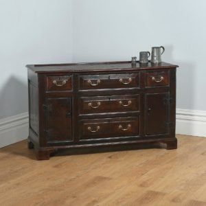 Antique Welsh Georgian Bog Oak Sideboard Dresser Base (Circa 1740) - yolagray.com