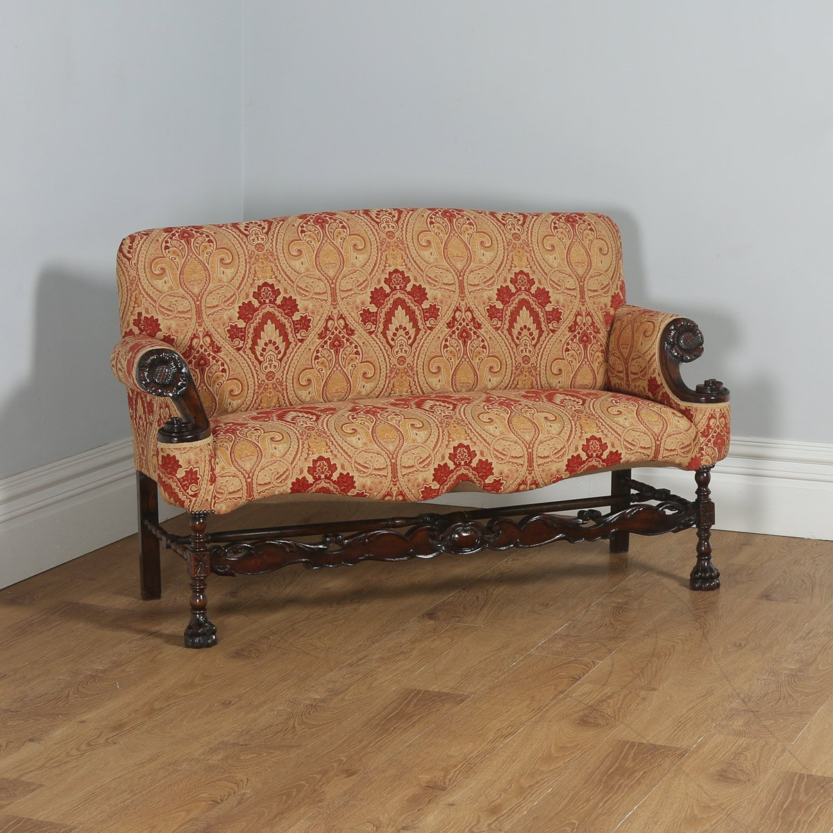 paisley furniture. Antique French Normandy Walnut Paisley Upholstered Couch (Circa 1900) - Yolagray.com Furniture O