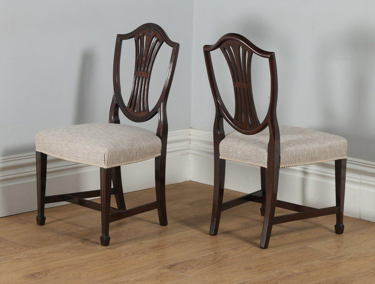 Antique Set Of 8 English Georgian Hepplewhite Style