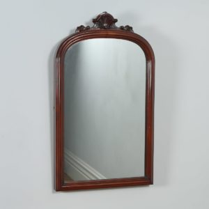 Antique English Victorian Mahogany Rectangular Wall Portrait Mirror (Circa 1870)- yolagray.com