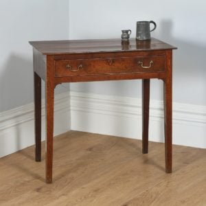 Antique English George III Country Oak Side / Hall Table (Circa 1800)- yolagray.com