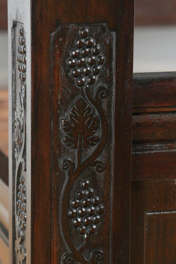 Tudor Style Super King Oak Full Tester Four Poster Bed (6ft Wide) - yolagray.com