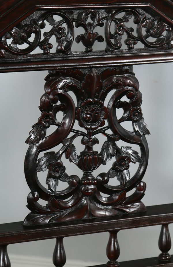 "Antique 5ft 7"" Victorian Anglo Indian Colonial King Size Four Poster Bed (Circa 1880) - yolagray.com"