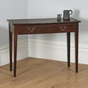 Antique English George III Country Oak Side / Hall Table (Circa 1780)- yolagray.com