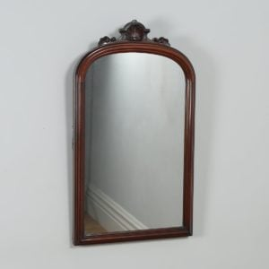 Antique English Victorian Mahogany Rectangular Wall Portrait Mirror (Circa 1870) - yolagray.com