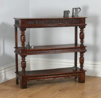 Antique Charles II Style Oak Buffet Server / Sideboard (Circa 1820) - yolagray.com