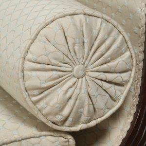 Antique English Regency Mahogany Upholstered Scroll End Chaise Longue (Circa 1820)- yolagray.com