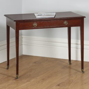 Antique English Georgian Regency Mahogany Occasional Hall Side Table (Circa 1820)- yolagray.com