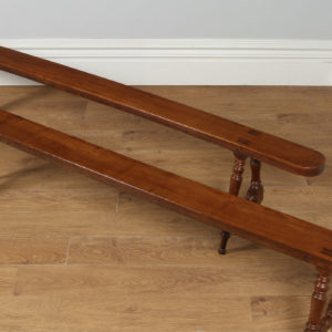 """Antique Pair of 7ft 10"""" French Provincial Cherry Wood Kitchen Benches (Circa 1860)- yolagray.com"""