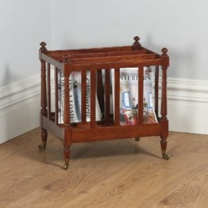 Antique English Georgian Regency Mahogany Canterbury / Magazine Rack (Circa 1830)- yolagray.com