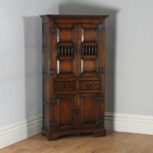 English Georgian Style Oak Kitchen Housekeepers Food Cupboard (Circa 1950)- yolagray.com