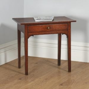 Antique English Georgian Oak Country Side Table (Circa 1790) - yolagray.com