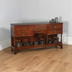 Antique Welsh Georgian Regency Oak Potboard Dresser Base (Circa 1810) - yolagray.com