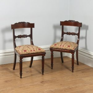 Antique English Georgian Regency Pair of Rosewood Bar Back Side Chairs (Circa 1830)- yolagray.com