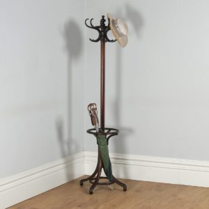 Antique Edwardian Bentwood Coat, Hat, Stick & Umbrella Hallstand (Circa 1910) - yolagray.com