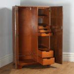 Antique English Art Deco Burr Walnut Two Door Compactum Wardrobe (Circa 1930)