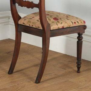 Antique English Georgian Regency Pair of Rosewood Bar Back Side Chairs (Circa 1830)- yolagray.com