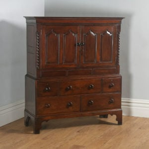 "Antique Georgian Welsh Housekeepers Oak ""Carmarthen Coffer"" Food Cupboard (Circa 1790) - yolagray.com"