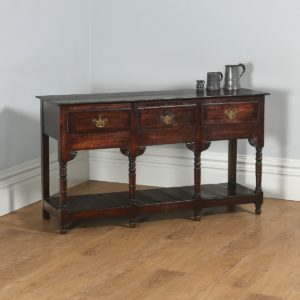 Antique Welsh Regency Georgian Oak Potboard Low Dresser Base Sideboard (Circa 1810)- yolagray.com