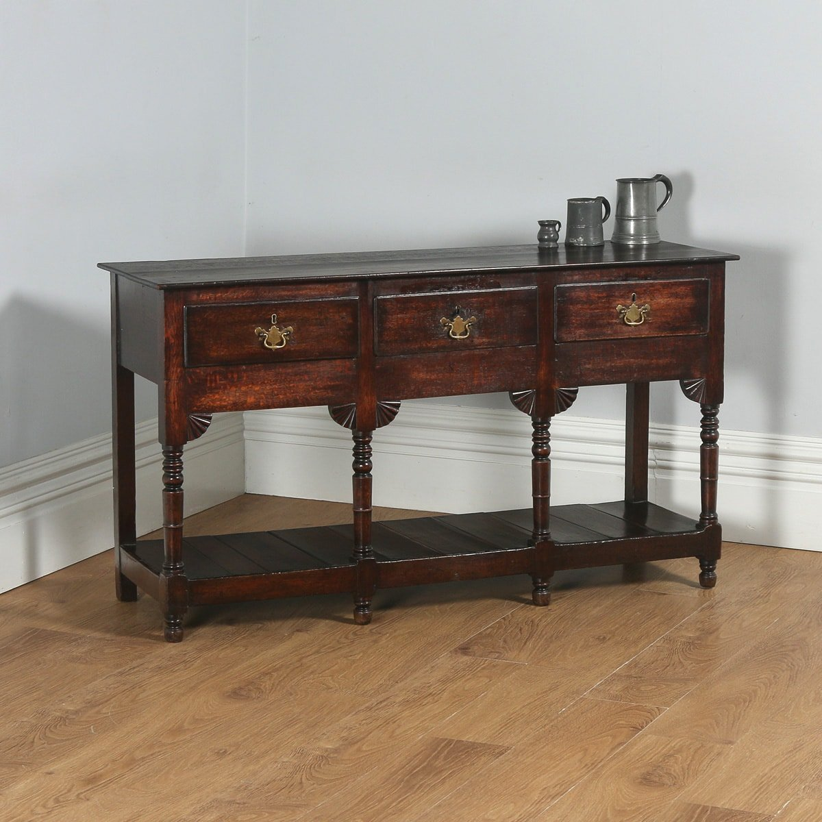 Georgian Oak Potboard Low Dresser