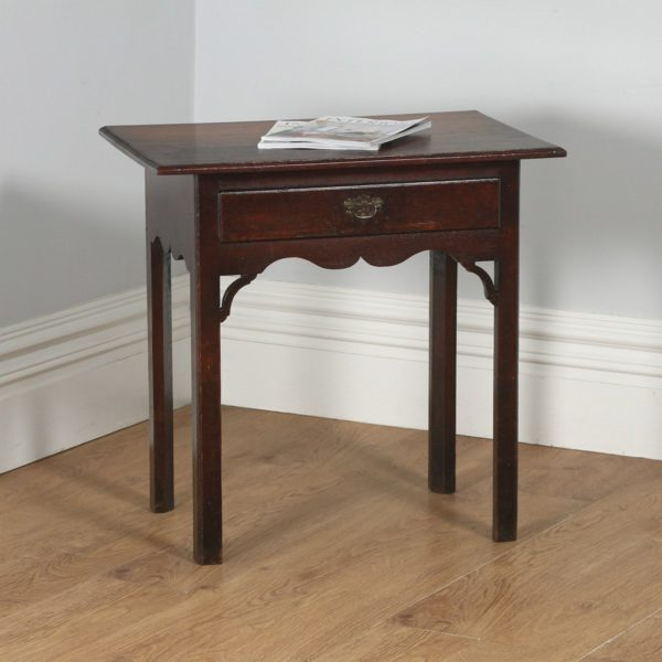 Antique English Georgian Country Oak Side / Hall Table (Circa 1770)- yolagray.com