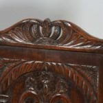 Antique English Pair of 17th Century Style Oak Wainscot Hall / Side Chairs (Circa 1920)
