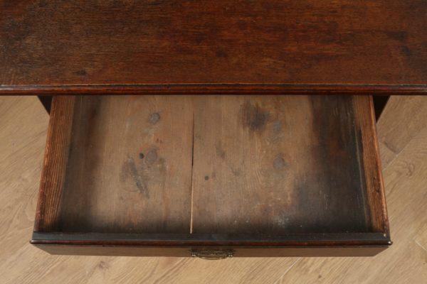 Antique English Georgian Country Oak Side / Hall Table (Circa 1770)- yolagray.com