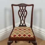 Antique English Set of Four Georgian Chippendale Style Mahogany Dining Chairs (Circa 1900)