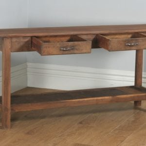 19th Century Style French Provincial Chestnut Low Dresser Potboard Base / Sideboard (Circa 1970)- yolagray.com
