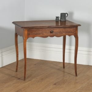Antique French Louis Style Oak Provincial Side / Hall Table (Circa 1890) - yolagray.com
