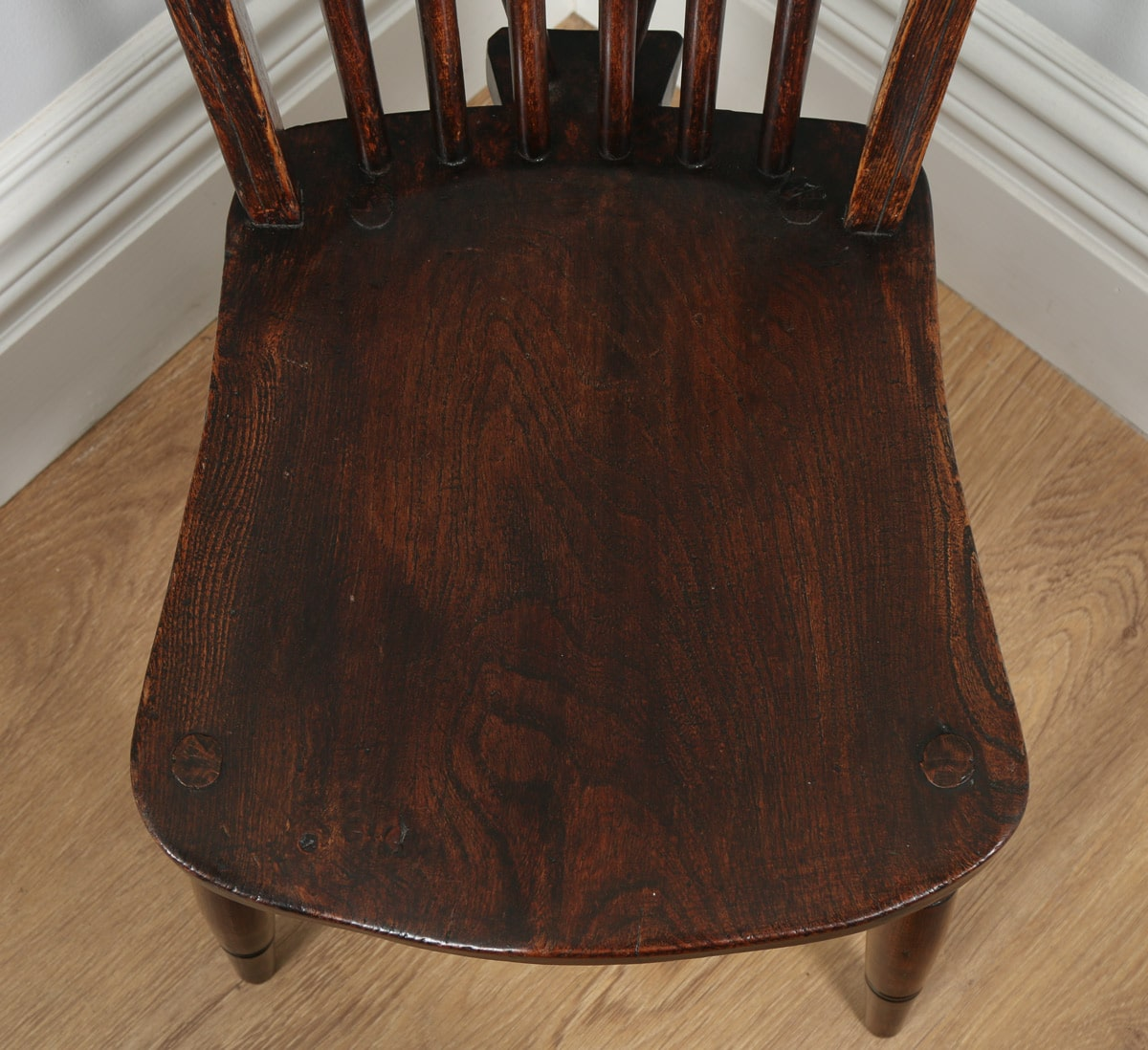 Antique Set of Six Victorian Ash u0026 Elm Country Stick Back Kitchen Dining Chairs (Circa & Antique Set of Six Victorian Ash u0026 Elm Country Stick Back Windsor ...