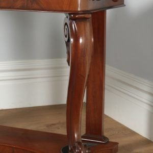 Antique English Victorian Mahogany & Marble Coat, Hat, Stick & Umbrella Hallstand With Mirror (Circa 1870)- yolagray.com