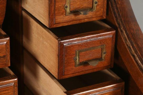 Antique English Edwardian Oak Angus Roll Top Pedestal Office Desk Circa 1900 Yolagray