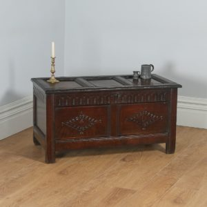 Antique English Charles I West Country Gloucestershire Oak Joined Coffer Chest / Coffer (Circa 1650)- yolagray.com
