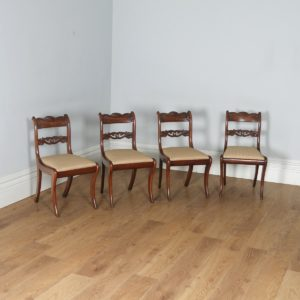Antique English Georgian Regency Set of Four Mahogany Dining Chairs (Circa 1830)- yolagray.com