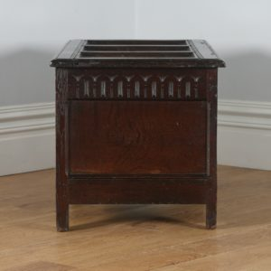 Antique English Charles I West Country Gloucestershire Oak Joined Coffer Chest / Coffer (Circa 1650)