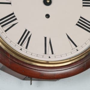 IMG_5391Antique 15″ Smiths Mahogany Railway Station / School Round Dial Wall Clock (Timepiece)