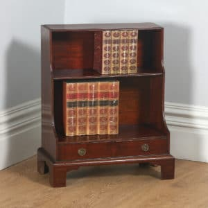 Antique English Georgian Regency Small Mahogany Waterfall Bookcase (Circa 1820) - yolagray.com