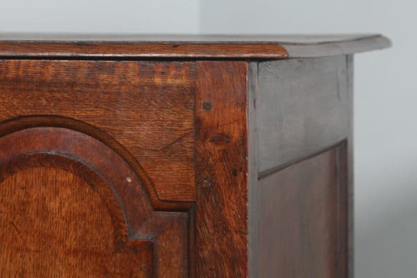 Antique English Georgian Panelled Oak Marriage Mule Chest / Blanket Box With Drawers (Circa 1730)- yolagray.com