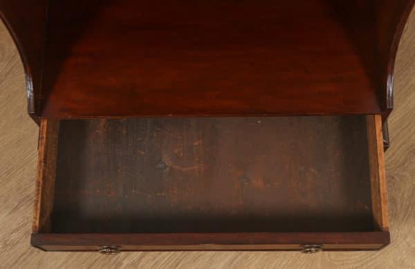 Antique English Georgian Regency Small Mahogany Waterfall Bookcase (Circa 1820) - yolagray.com