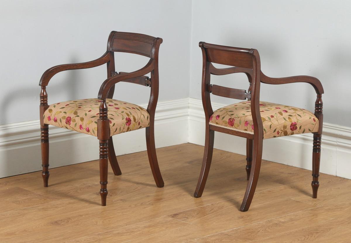 Antique english pair of georgian sheraton regency mahogany for Furniture kelsall