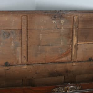 Antique Low Countries Chestnut & Brass Inlaid Joined Chest / Coffer (Circa 1800) - yolagray.com