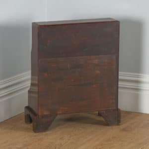 Antique English Georgian Regency Small Mahogany Waterfall Bookcase (Circa 1820)