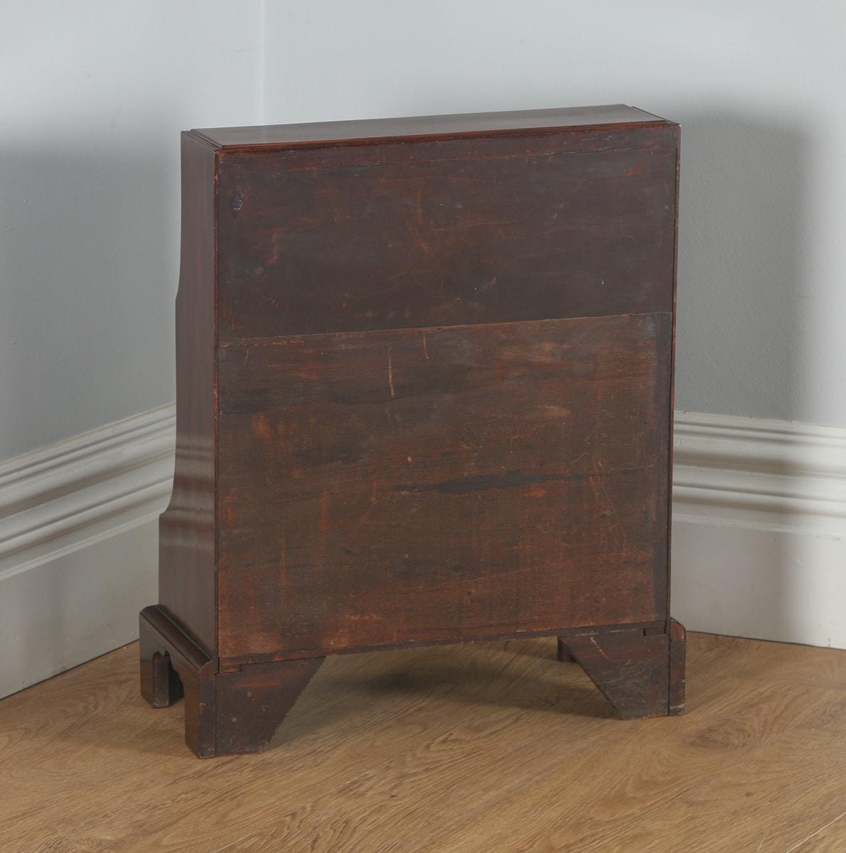 Antique english georgian regency small mahogany waterfall for Furniture kelsall
