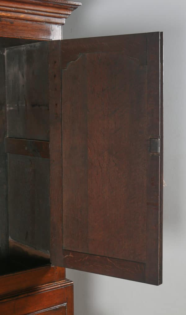 Antique Georgian English Oak Housekeepers Hanging Press Cupboard (Circa 1780) - yolagray.com
