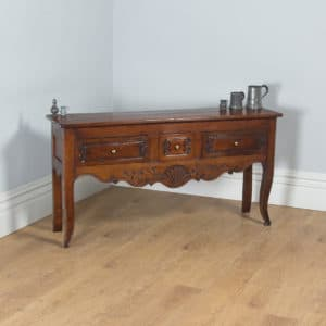 Antique French Provincial Walnut Three Drawer Dresser Base / Sideboard (Circa 1800)- yolagray.com