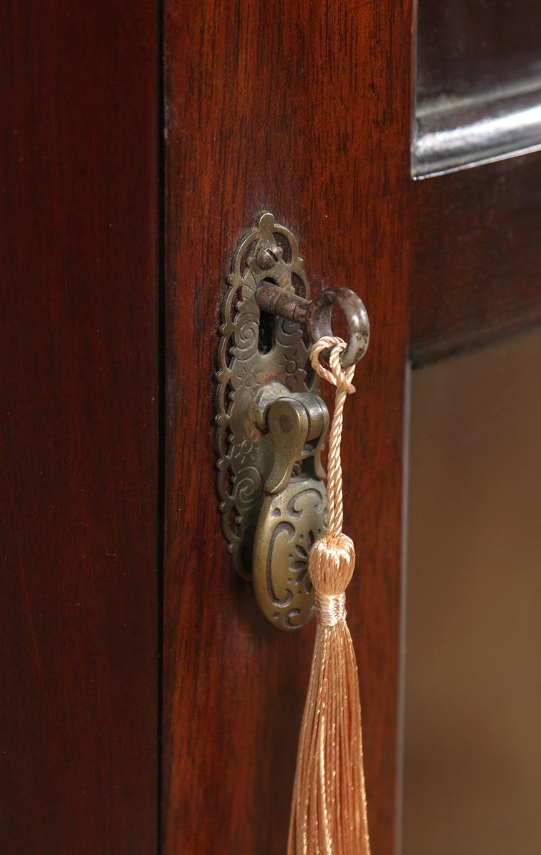 Antique Edwardian Mahogany Door Handles