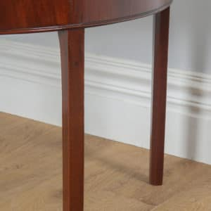 Antique English Pair of Georgian Mahogany Demi Lune Console Side Hall Tables (Circa 1790) - yolagray.com