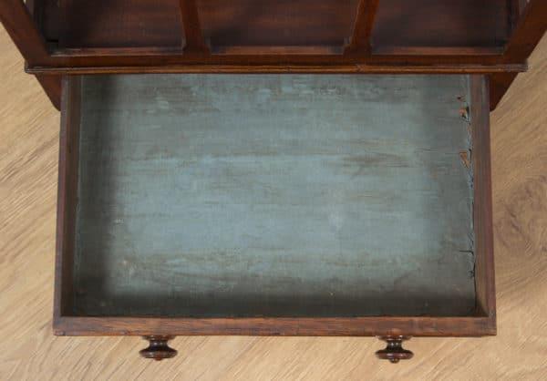 Antique English Georgian Regency Mahogany Canterbury Magazine Rack / Tidy (Circa 1820) - yolagray.com